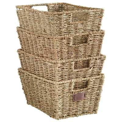 Seagrass Storage Basket set of 4 - Wayfair