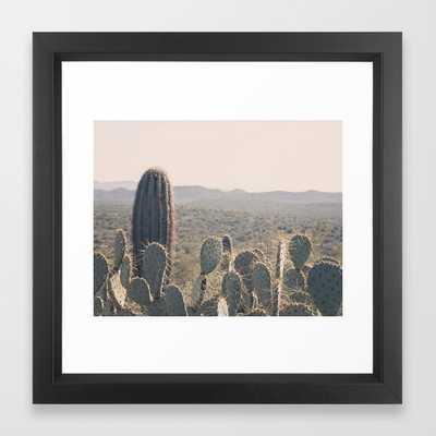 Arizona Cacti Framed Art Print 141 by Gaea Photography- 12''x12''- Vector Black Frame - Society6
