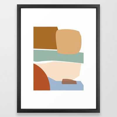 // Reminiscence 01 Framed Art Print 20 x 26, Vector Black - Society6