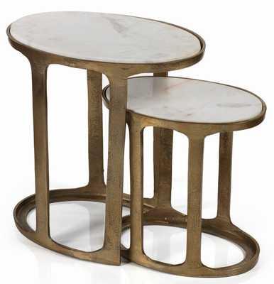 Sherer 2 Piece Nesting Tables - Wayfair