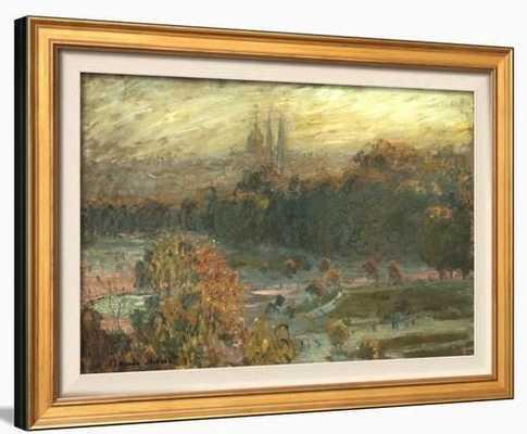 The Tuileries Framed Textured Art - art.com