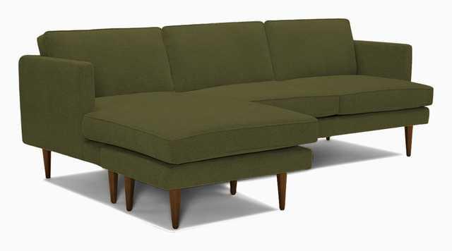 Preston Reversible Sectional -faithful olive - Joybird