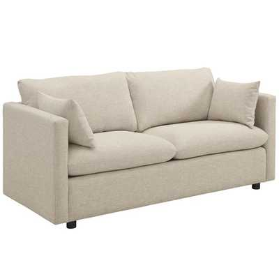 ACTIVATE UPHOLSTERED FABRIC SOFA IN BEIGE - Modway Furniture