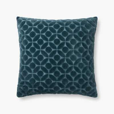 "P0864 Teal, 22"" Pillow with Poly Insert - Loma Threads"