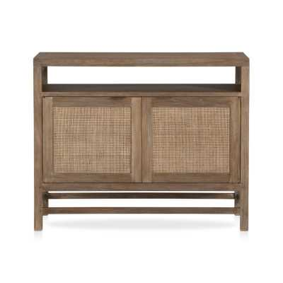 "Blake Grey Wash 42"" Media Console - Crate and Barrel"