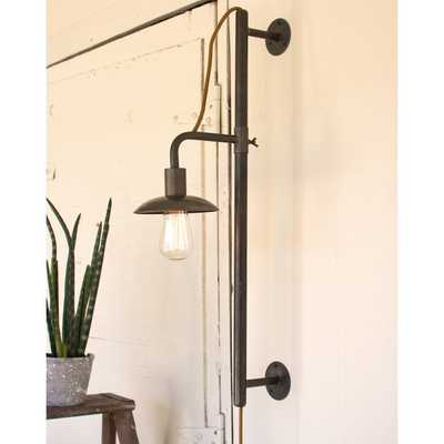 INDUSTRIAL VERTICAL SLIDING WALL SCONCE - Shades of Light