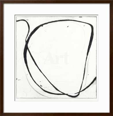 "BIG SWIRL 1 - 30 x 30- Frame: Soho Thin Espresso 1"" - art.com"