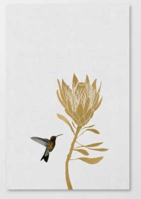 Hummingbird & Flower  Canvas Print // 24x36 - Society6