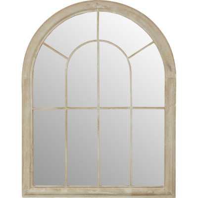 Round Top Windowpane Garden Mirror - Wayfair
