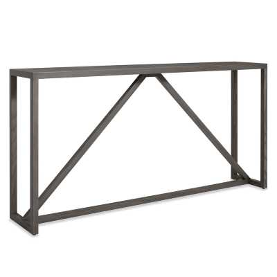 "Strut 60"" Console Table - Smoke - Perigold"