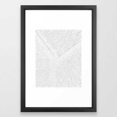 Lines Art Framed Art Print - Society6