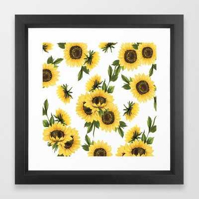 Lovely Sunflower - Vector Black - Society6