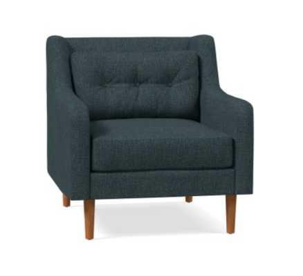 Crosby Arm Chair, Heathered Tweed, Marine - West Elm