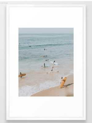 lets surf iii Framed Art Print - Society6