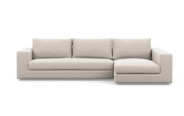 WALTERS Sectional Sofa with Right Chaise / Linen Pebble Weave - Interior Define