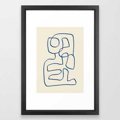 Abstract line art 16 Framed Art Print - Society6
