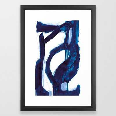 "Blue Abstract Framed Art Print -Vector Black - 15"" x 21"" - Society6"