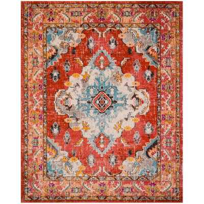 Tsukiji Orange Area Rug 8' x 10' - Wayfair