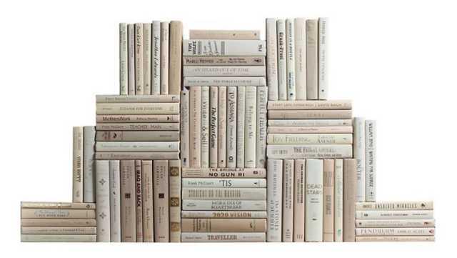 Modern Neutral Book Wall, Set of 75 - One Kings Lane