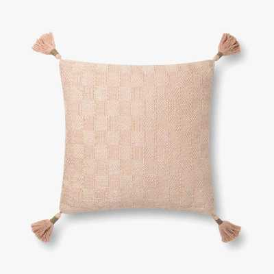 "Justina Blakeney x Loloi PILLOWS P0817 Champagne 18"" x 18"" Cover w/Down - Justina Blakeney x Loloi Rugs"