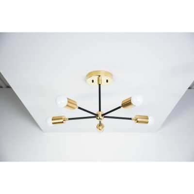 5-Light Semi Flush Mount - Wayfair