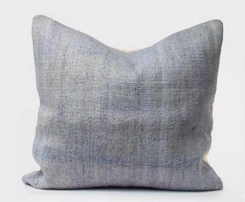 Kilim Cushion in Washed Blue - shoppe.amberinteriordesign.com