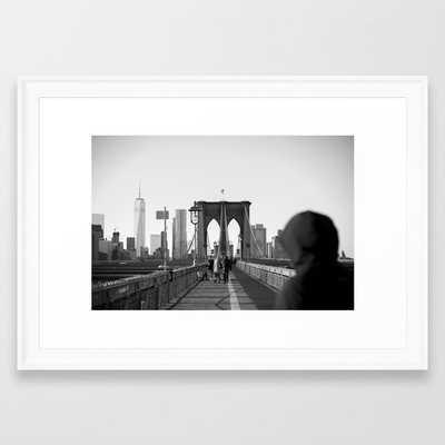 Brooklyn Bridge Framed Art Print - Society6