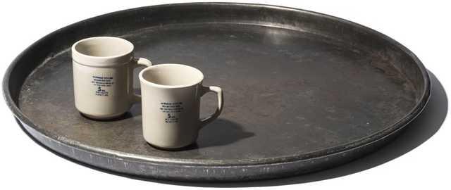 Vintage Large Round Tray - Burke Decor