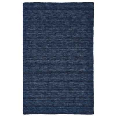 Carbonell Handmade Tufted Wool Dark Blue Area Rug - Wayfair