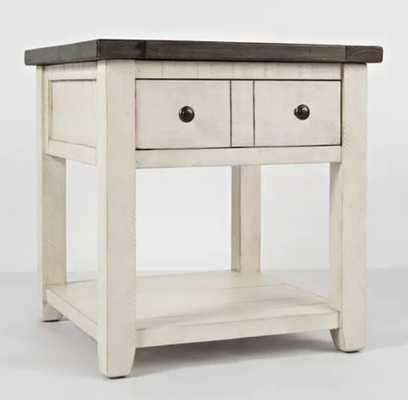 Westhoff Solid Wood End Table with Storage - Wayfair