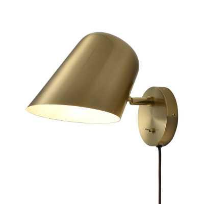 1 - Light Plug-In Matte Black Spotlight - Wayfair