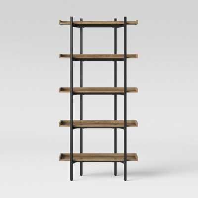 "68"" Taft 5 Shelf Bookcase Rustic/Black - Threshold - Target"