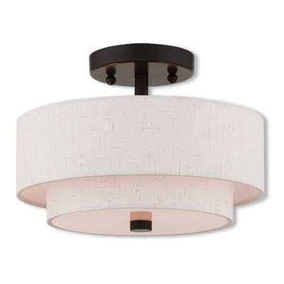 Dundee 2 Light Semi Flush Mount - Wayfair