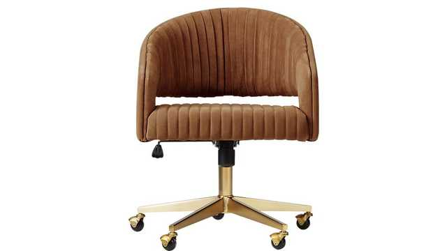 Channel Suede Office Chair-Atlas, Suede - CB2