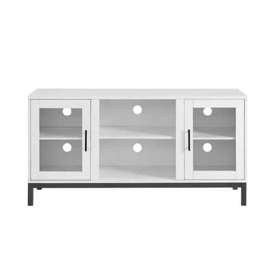 Walker Edison Furniture Company Modern TV Stand for TV's Up to 55 in. White - Home Depot