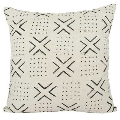 DAKARI ONE OF A KIND WHITE MUDCLOTH PILLOW - Lulu and Georgia