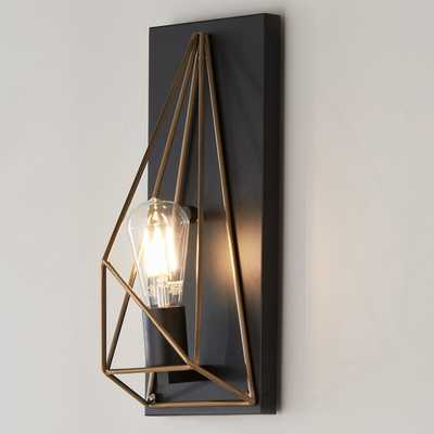 PRISMATIC WIRE CAGE SCONCE - Shades of Light