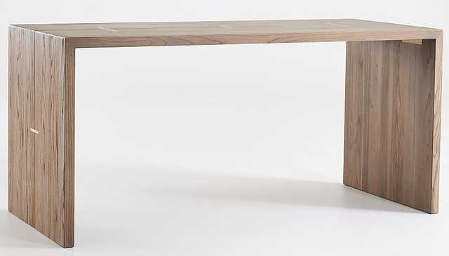 Maxwell Rectangle Wood Dining Table with Inlay - Crate and Barrel
