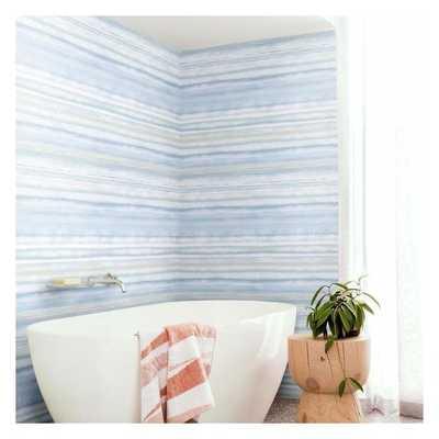 Fleeting Horizon Stripe Unpasted Wallpaper - York Wallcoverings