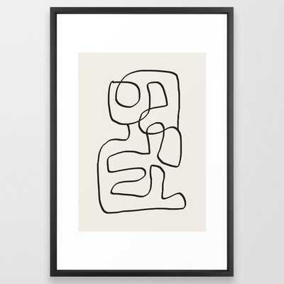 Abstract line art 15 Framed Art Print - Society6