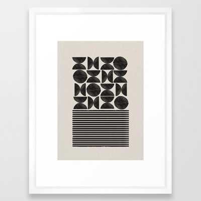 Woodblock Art, Warm Tone Framed Art Print - Society6