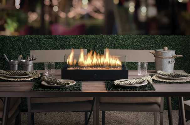 Lara Steel Propane Tabletop Fireplace - Wayfair