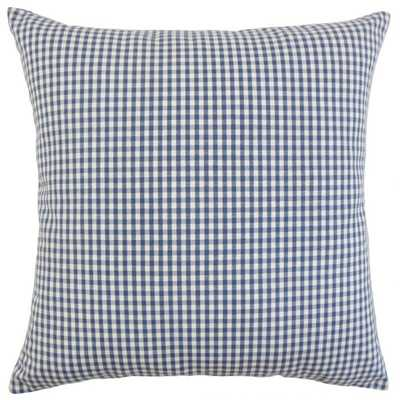 "Keats Plaid Pillow Navy - 20""x20"" Cover ONLY - Linen & Seam"