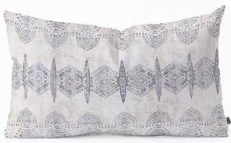 FRENCH LINEN ERIS Oblong Throw Pillow -23x14 with insert - Wander Print Co.