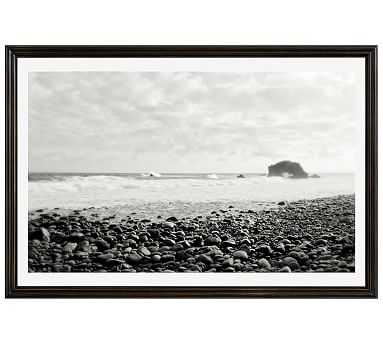 "Distant Shore by Lupen Grainne, 42 x 28"", Ridged Distressed Frame, Black, Mat - Pottery Barn"