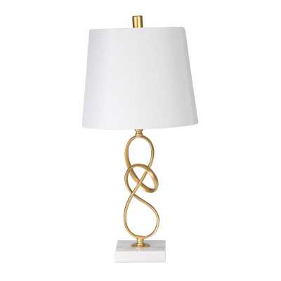 Gold/White Pierce Table Lamp - Wayfair