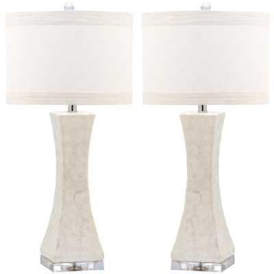 "Balmorhea Concave 30.5"" Table Lamp (set of 2) - Wayfair"