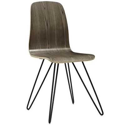 DRIFT BENTWOOD DINING SIDE CHAIR IN WALNUT - Modway Furniture