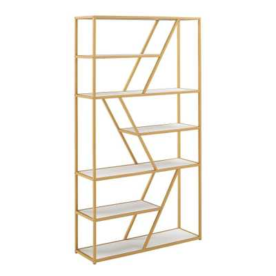Cariba Geometric Gold Metal Bookcase by iNSPIRE Q Bold - Overstock