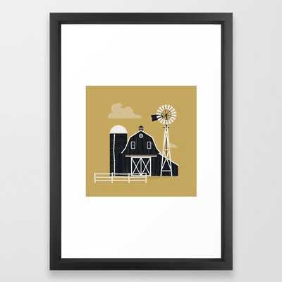 Life Is Better On The Farm Framed Art Print, 15x21 - frame vector black - Society6